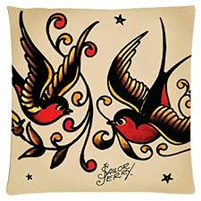 tattoo home decor amazon com astilnet sailor jerry tattoo print sofa home decor