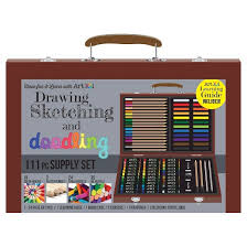 art101 drawing sketching and doodling supply set 111pc target