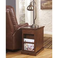 End Table Lamps For Living Room Signature Design By Ashley Laflorn Medium Brown Power Chair Side