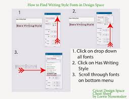 lorrie u0027s story cricut design space cheat sheets for quick