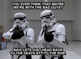 Star Wars Stormtrooper Meme - stormtroopers aren t sure the death star is the right employer for