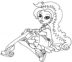free printable monster high coloring pages lagoona dawn of the