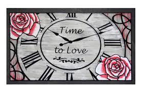 doormat italian design clock polyamide by home designer goods