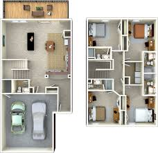 4 bedroom floor plans 2 4 bedroom 4 5 bathroom th 2