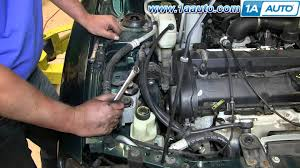 2000 ford focus power steering how to replace install squeaking engine belt idler pulley 1998 03