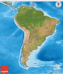 Map Of South America And North America by Graphatlascom America North America Satellite Wall Map Mapscom