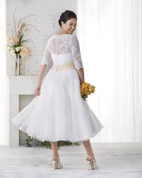 plus size wedding dresses with sleeves tea length bonny bridal unforgettable collection plus size dresses