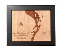 wood anniversary gift ideas for him 5th anniversary gift laser cut wood lake map any lake wood