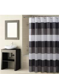 Grey And White Striped Shower Curtain Shower Curtains U0026 Bathroom Curtains Linens N U0027 Things