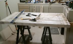 ana white pottery barn benchwright farmhouse dining table diy