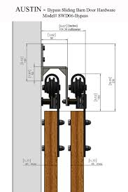 Exterior Sliding Barn Door Kit Bypass Sliding Barn Wood Door Hardware Black Rustick Barn Sliding