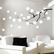 Contemporary Branch Flowers Vinyl Wall Decal Trendy Wall Designs - Design wall decal