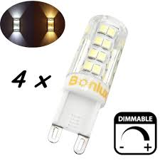 are g9 light bulbs dimmable 4 packs 4w g9 led light bulb dimmable crystal corn bulb 40w halogen