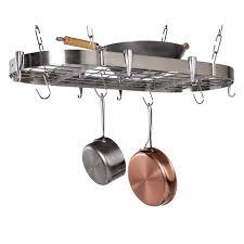 kitchen pot racks with lights scroll filigree pot rack with lights hayneedle