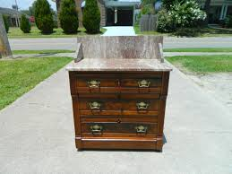 walnut victorian eastlake marble top batchelors chest washstand
