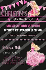 Barbie Birthday Invitation Cards Best 25 Barbie Birthday Invitations Ideas On Pinterest Barbie