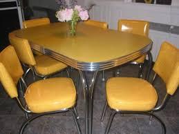 set de cuisine retro mustard yellow chair chair dining metalcraft retro magical