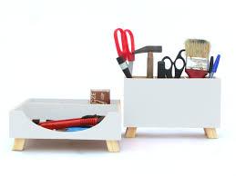 Desk Organizer Box White Desk Organizer Box Set Wood Desktop Set Office