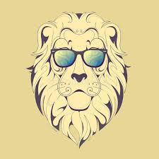 hipster lion print stock vector image 63110166