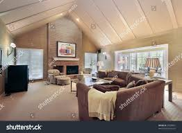 vaulted ceiling living room living room vaulted ceilings stock photo 27630001 shutterstock