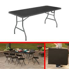 cosco 6 centerfold table 6 foot black folding table office centerfold portable plastic home