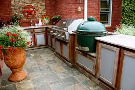 Outdoor Kitchen Ideas Big Green Egg Outdoor Kitchen Design 2017 And With Images Wooden