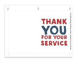 printable veterans day cards veterans day printable card thank you for your service note