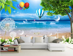d oration chambre peinture personnalisé photo 3d papier peint de la chambre balnéaire ballon