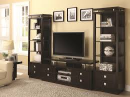astonishing living room wall unit feature side bookshelf and