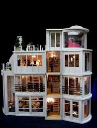 modern dollhouse the citadel pre built and electrified 1 12