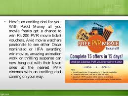 now watch your favourite movie at pvr with pokkt money voucher