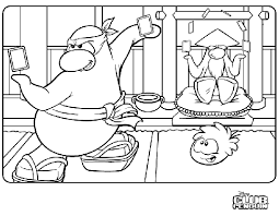 coloring pages of club penguin penguin coloring pages