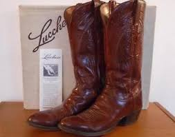lucchese s boots size 9 lucchese 039 s brown leather cowboy boots size 9 a with box