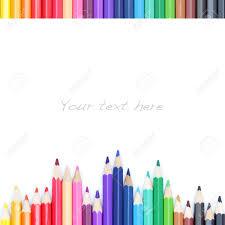imagenes de archivo libres de derechos lápices de colores sobre fondo blanco como el borde de color fotos
