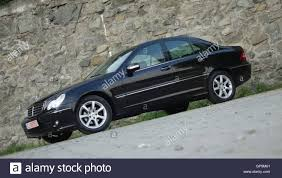 chrome benz mercedes c klass w203 elegance chrome stock photo royalty