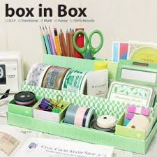 Desk Organization Diy Diy Stationery Makeup Cosmetic Desk Organizer Storage Box