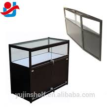 glass counter display cabinet portable exhibition glass display counter foldable display cabinet