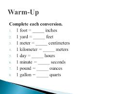 2 meters feet lesson 1 proportionality measurement ppt video online download