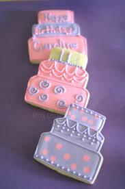 my pink little cake pink and lavander birthday cookies