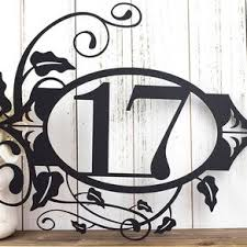metal house numbers and letters in steel and iron custommade