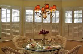 Dining Room Bay Window Treatments - plantation shutters versatile window treatment