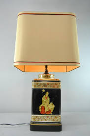 Asian Style Table Lamps Asian Style Chinoiserie Tea Tin Canister Table Lamp Mother With