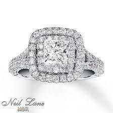 jewelers wedding ring neil engagement ring 2 ct tw diamonds 14k white gold