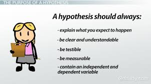 what is a hypothesis definition u0026 explanation video u0026 lesson