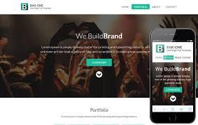 bak one singlepage flat corporate responsive website template by