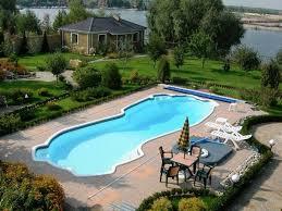 Inground Pool Patio Designs Inground Pool Patio Ideas Semi Inground Pool Landscaping Ideas