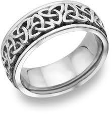 celtic mens wedding bands celtic knot wedding band 14k white gold