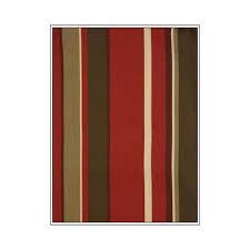 valencia storage ottoman in urban mahogany fabric green u0026 red