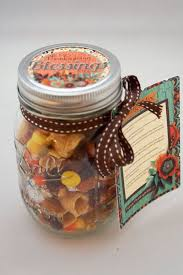 thanksgiving blessings mix printable jar gift topper and tag