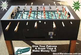 Used Foosball Table Stockwarehouse Cntr Us Dynamo Coin Operated Foosball Soccer